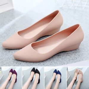 Women-Ballet-Shoes-Pointed-Toe-Flats-Work-Shoes-Stretch-Breathable-Loafers-Shoes