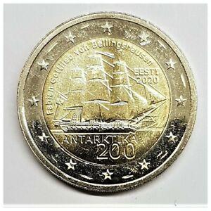2 euros Estonie 2020, Découverte Antarctique