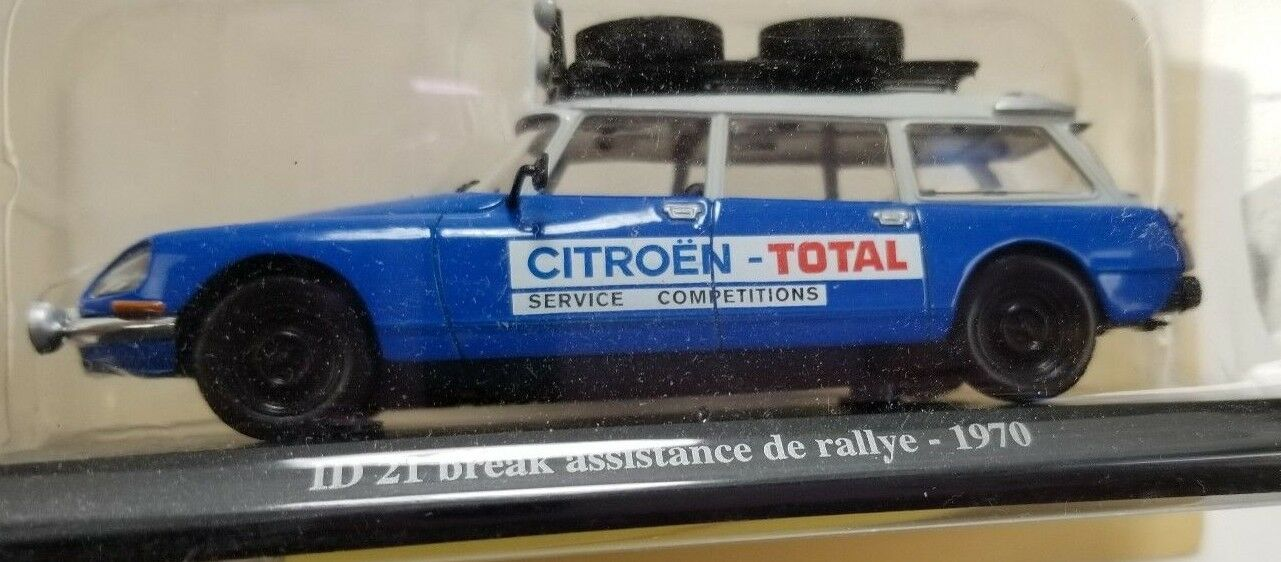 1 43 Atlas Norev 1970 Rallye Racing DS Citroen Model Toy Car New Rare Replica