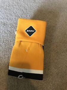 Nike Bristol Soccer Socks- Adult Unisex- Golden Yellow/ Black/ White- New No Tag