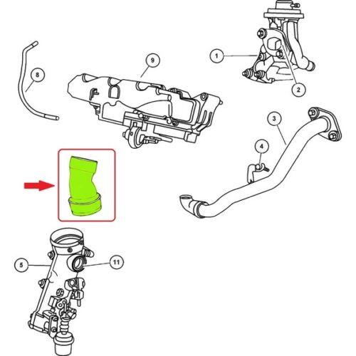 CHRYSLER PT CRUISER 2.2 CRD TUYAU D/'INTERCOOLER TURBO DURITE 5080430AA