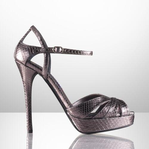 Ralph Lauren viola Label Steel  Python Jerala Sandals New  1250  a prezzi accessibili