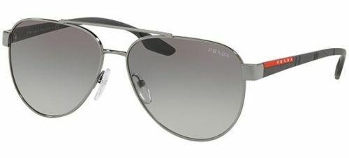 af164287e507e PRADA Linea ROSSA 54ts Sunglasses 5av3m1 Gunmetal 100 Authentic for sale  online