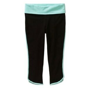 Danskin Now Girls' Binded Yoga Capri Pant 4-5 black