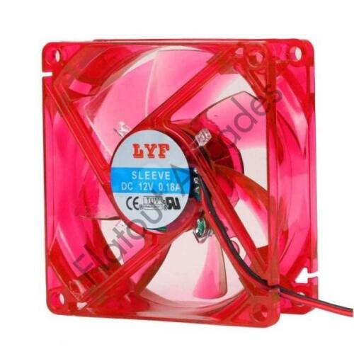 Red 80MM LED PC COOLING FAN FOR BARTOP AND COCKTAIL ARCADE CABINET MAME RETOPIE