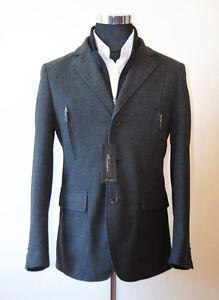 56 Mod Finto coats fran Antracite Tg coats Uomo Gilet Giacca qYUxAtEw
