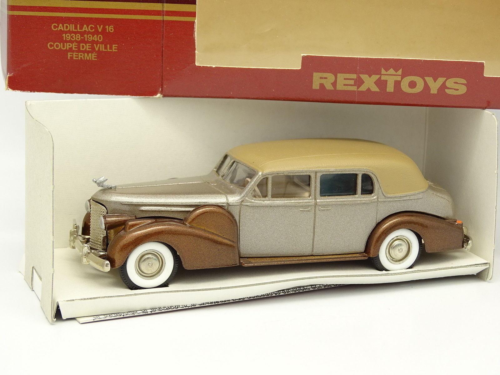 Rextoys 1 43 - Cadillac V16 Schale Stadt 1940 geschlossen Braun