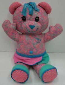 Doodle-Bear-Write-On-Washable-Teddy-Bear-Stuffed-Plush-Toy-EUC-1994-2005