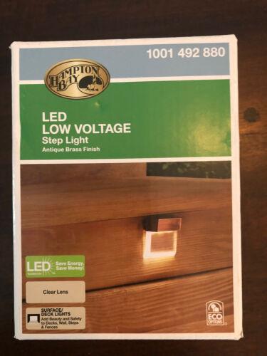 Hamlton Bay LED Low Voltage Step Light Antique Brass Finish NEW In Box