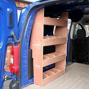 peugeot partner swb van shelving storage racking plywood tool