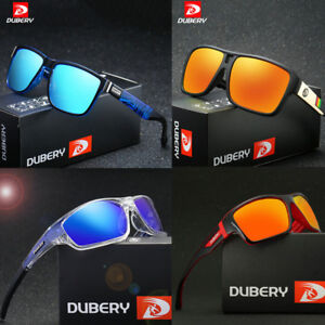 DUBERY Men Polarized Sport Sunglasses Outdoor Driving Riding Square Goggles New