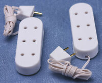 Pack Of Two Triple Extensions / Sockets Miniatures 1:12th Scale 12 Volt System
