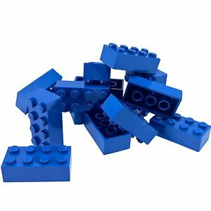 15 NEW LEGO Brick 2 x 4 BRICKS Blue