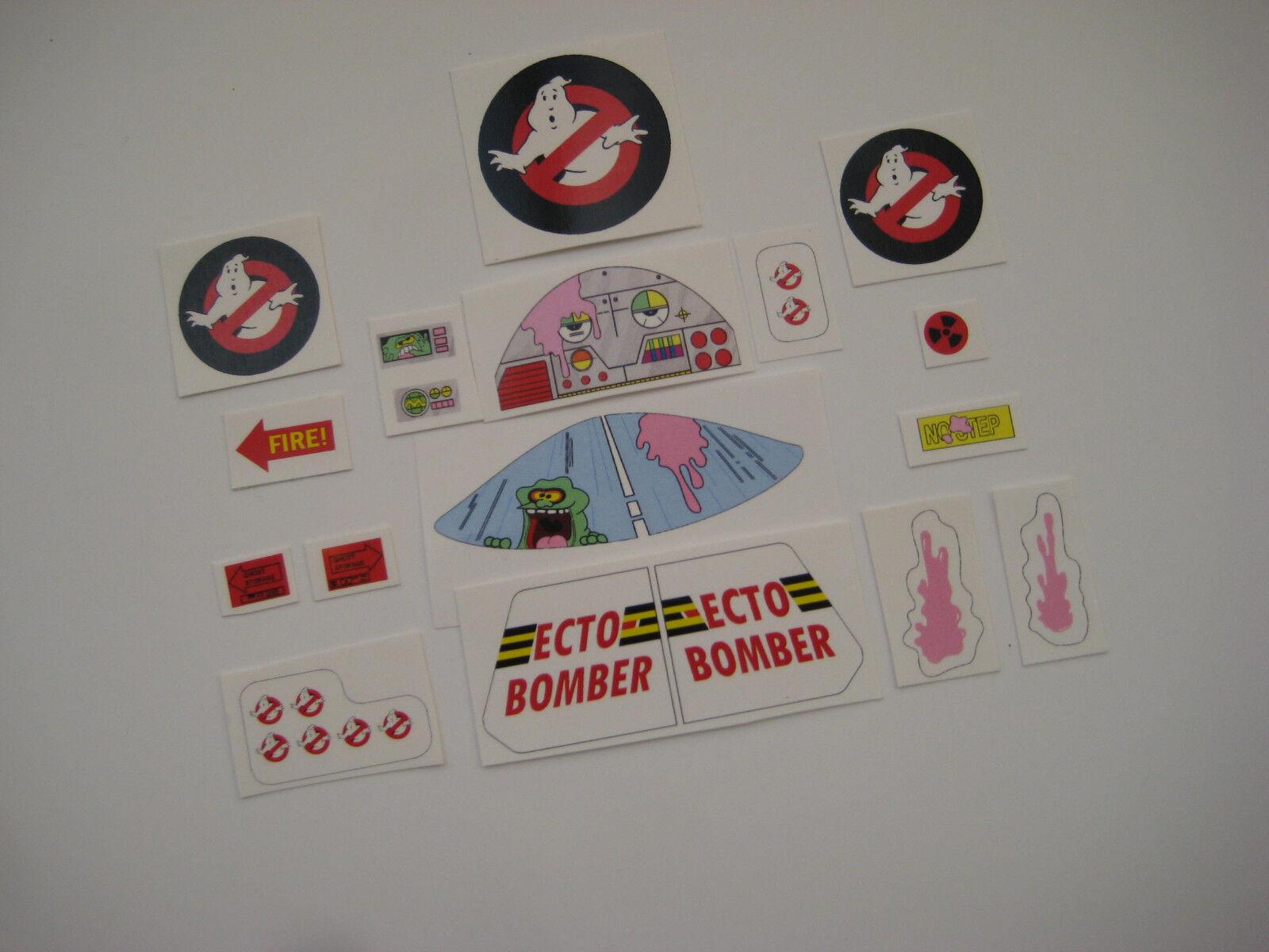 PROTON PACK GHOST TRAP Ecto Goggles and Motorola MT500 radio Sticker set