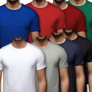Jack-amp-Jones-Herren-Basic-T-Shirt-Rundhals-S-M-L-XL-XXL-Schwarz-Weiss-Blau-Grau