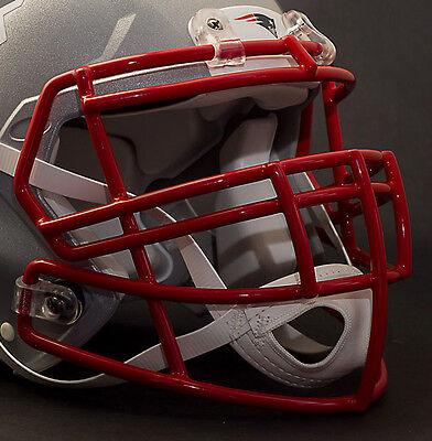 NEW ENGLAND PATRIOTS Riddell Speed S2BD-SP Football Helmet Facemask SCARLET