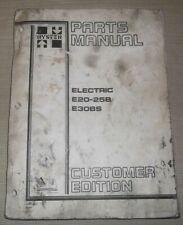 Hyster E20b E25b E30bs Electric Forklift Lift Truck Parts Manual Book Catalog