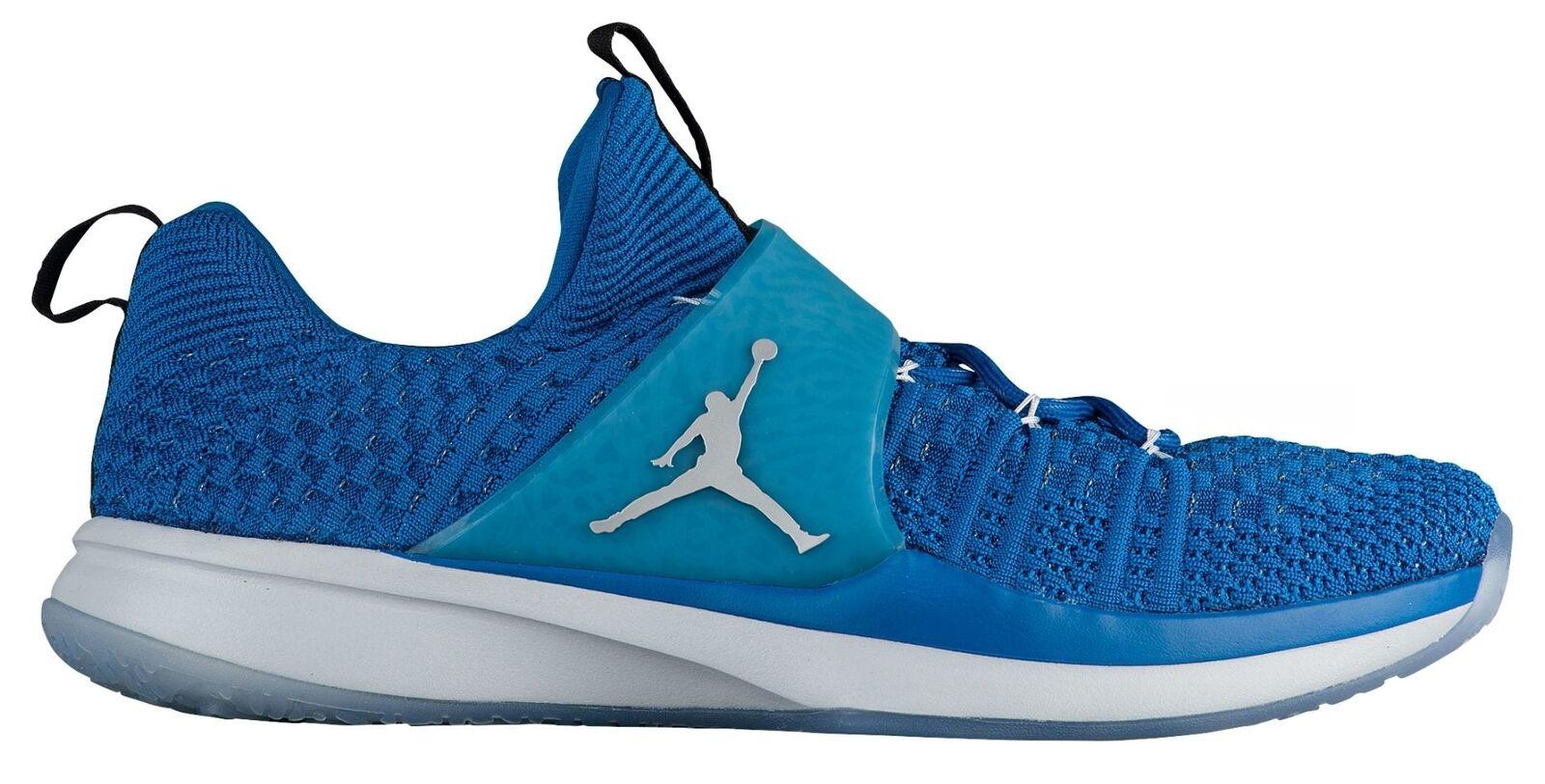 Jordan Trainer 2 Flyknit Mens 921210-402 Military Blue 15 Training Shoes Size 15 Blue 95408c
