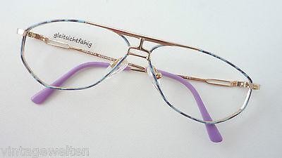 AnpassungsfäHig Argenta Sportliche Brille Neu Metallfassung Farbige Pilotenbrille 60-16 Grösse M