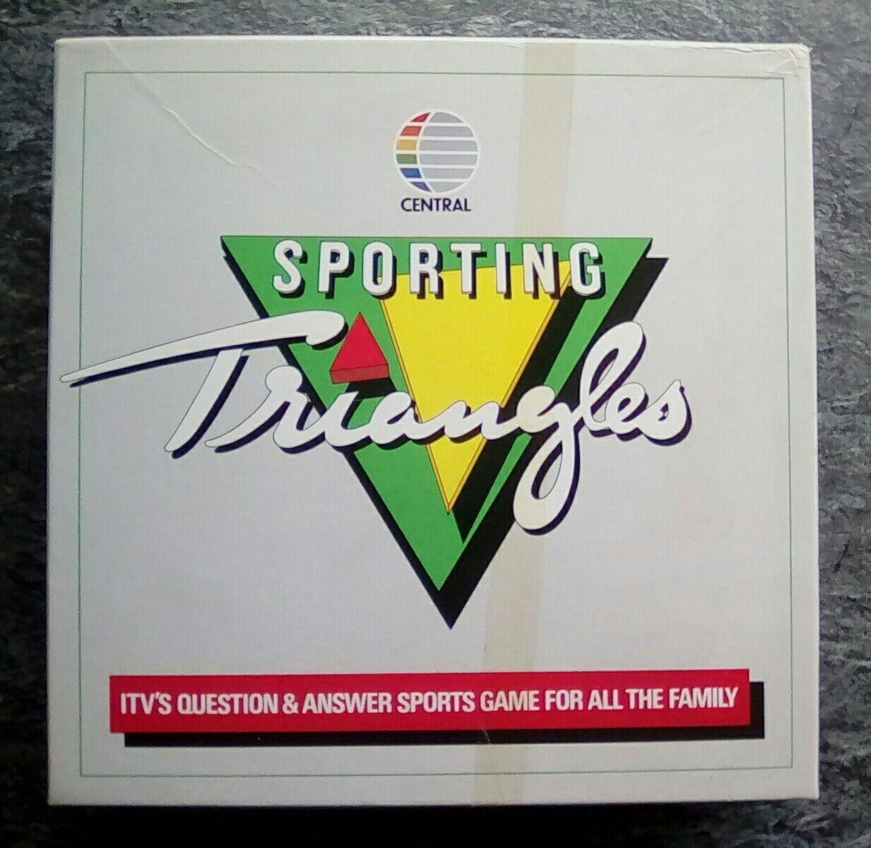 Raro Retro  deportivos triángulos Central TV Sport Quiz Juego de Mesa de 1987
