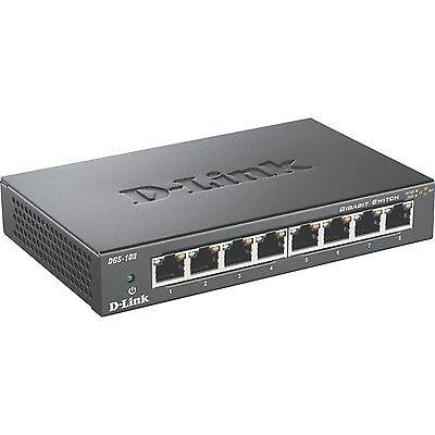 D-Link DGS-108, Switch, schwarz