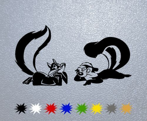 STICKER PEGATINA DECAL VINYL Penelope Pussycat /& Pepe Le Pew