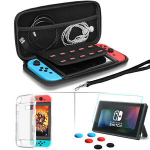 For Nintendo Switch Lite Carrying Case Bag+TPU Cover+Tempered Glass Protector