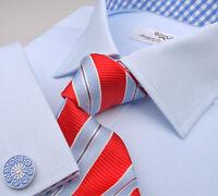 Blue Royal Oxford Plaids & Checks Formal Business Dress B2b Shirt Luxury Club A+