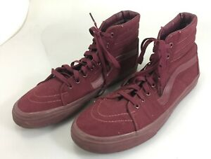 Details about Vans Maroon Hi Top Men's Skateboarding Shoes Kicks 721500 11.5 US 45 EU 10.5 UK