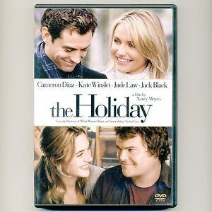 The Holiday 2006 Pg 13 Romantic Comedy Movie New Dvd Diaz Winslet Law Black Ebay