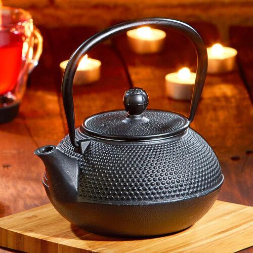 Rosenstein /& Söhne Asiatische Teekanne mit Stövchen aus Gusseisen
