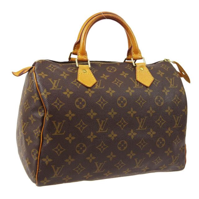 LOUIS VUITTON SPEEDY 30 HAND BAG PURSE MONOGRAM CANVAS M41526 SP1909 A52679a