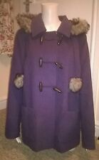 Purple Papaya Winter Duffle Coat - Faux Fur Hood - Size 20 - New with Tags!