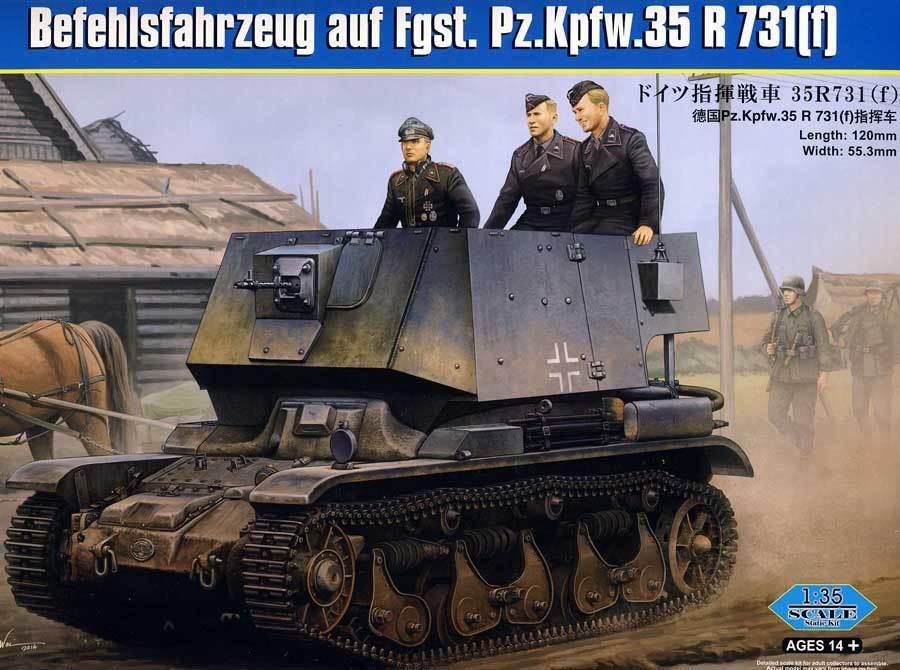 Hobbyboss Befehlsfahrzeug Pz.Kpfw.35 R731 (F) 37mm 1 3 5 Model Kit Armed Forces