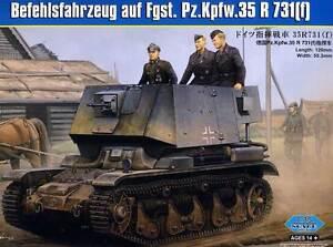 Hobbyboss-Befehlsfahrzeug-Pz-Kpfw-35-R731-F-37mm-1-3-5-Model-Kit-Armed-Forces