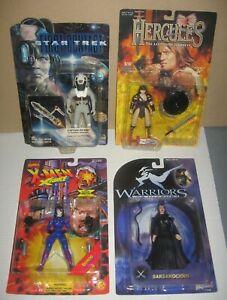 Mixed-LOT-New-VTG-1990-039-s-Action-Figures-X-Men-Star-Trek-Hercules-Warriors-Virtue
