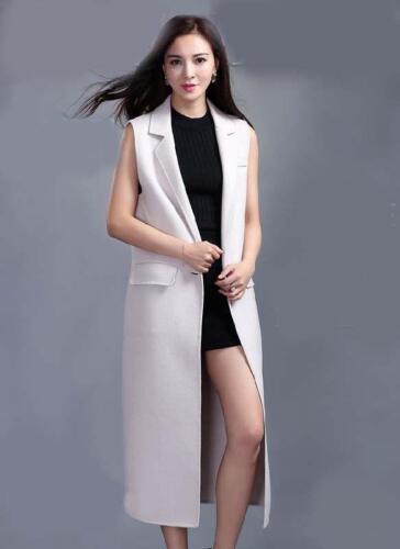 boutons longueur femmes manteau Sz gilet élégant veston revers genou boutons veste long 4aXzxq