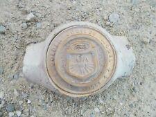Ford Golden Jubilee Tractor Original Gold Center Hood Medallion Really Rare