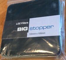 "Lee Filter, Neutral Density Big Stopper 100mm x 100mm  4"" x 4"" **NEW**"