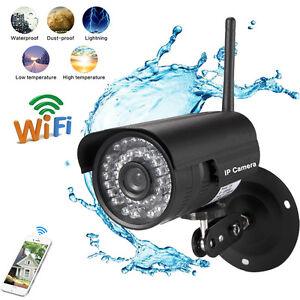 720P HD Waterproof Wireless IP Webcam WiFi CCTV Camera Security Night Vision