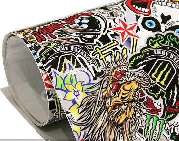 Sticker Bomb Sheet A4 Size Stickerbomb Suit HOON JDM Car Wrap Skateboard Scooter