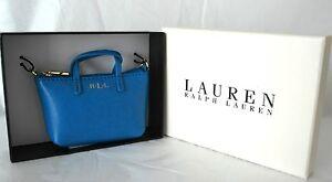 Nueva-En-Caja-Lauren-Ralph-Lauren-Cian-Mini-Bolso-encanto-Monedero-Azul