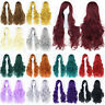 New 80cm Women Anime Long Curly Wavy Hair Party Cosplay Full Wig Hot 45