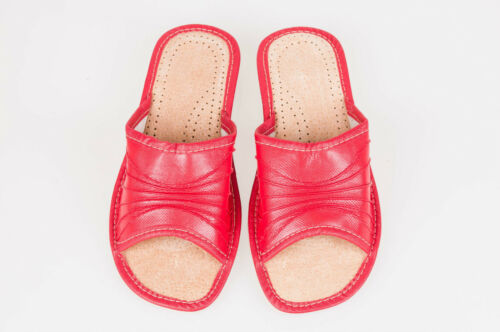 Women`s//Ladies Leather Slippers Natural Leather size:UK 3,4,5,6,7,8