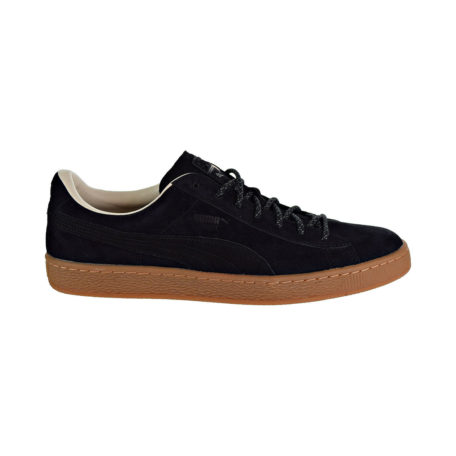 PUMA Basket Classic Winterized Mens Black Suede Lace up SNEAKERS ... 7ae65fc04