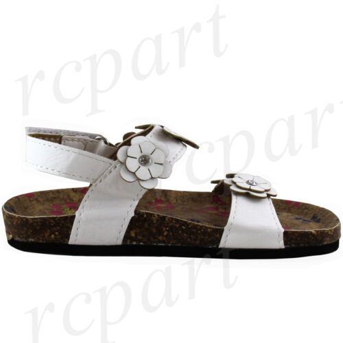 New girl/'s kids sandals White butterfly flowers summer casual open toe soft