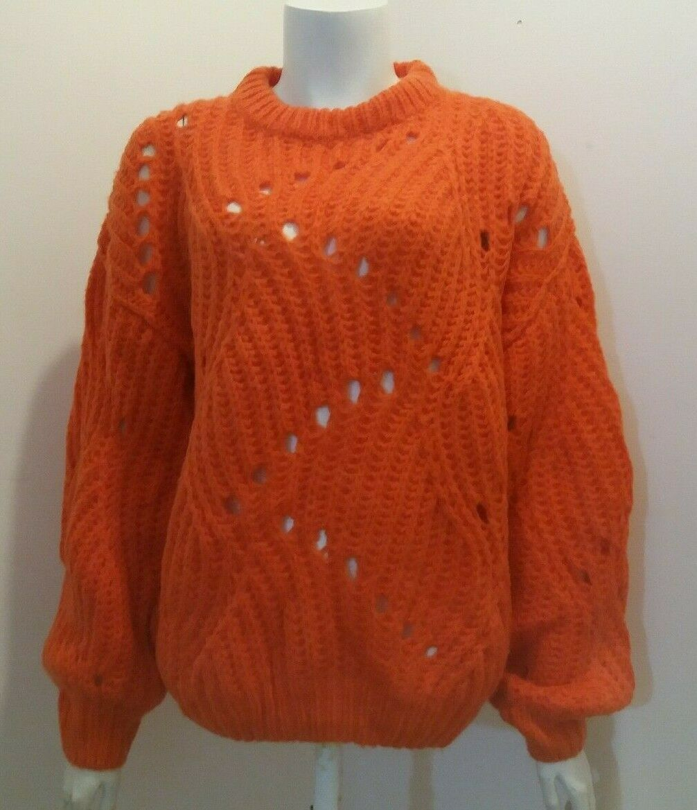 New Moves Fiolina Ladies Oversized Chunky Knit Jumper orange L