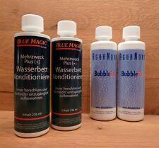 4 tlg. Set 2 BlueMagic Konditionierer/2 AguaNova Bubble Ex,Wasserbett,Luftbinder