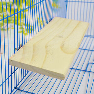 Wooden-Cockatiel-Parrot-Bird-Cage-Perches-Stand-Platform-Pet-Budgie-Hanging-Toy