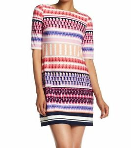 036dce0f Image is loading ELIZA-J-GEOMETRIC-PRINT-STRIPE-PINK-SHIFT-DRESS-